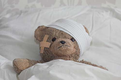 Teddy with Head Injury