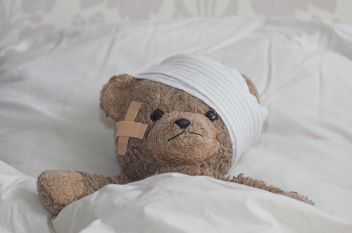 Teddy with Head Injury500