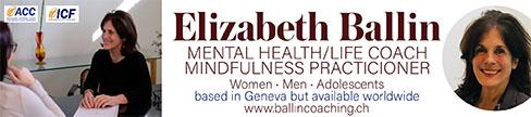 Elizabeth Ballin - Mental Health/LIfe Coach and Mindfulness Practitioner