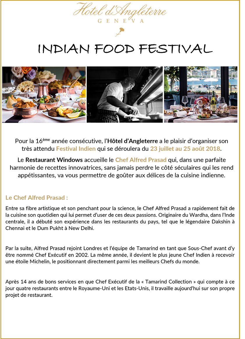 INDIAN FOOD FESTIVAL 2018 1