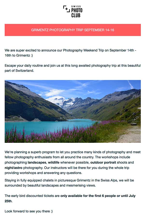 swiss photo club photo weekend