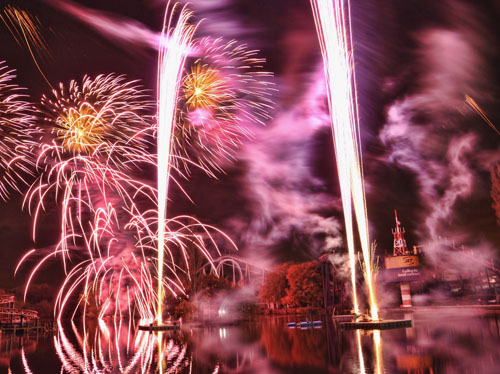 Rachel Beacher Drayton Manor Theme Park Fireworks Spectacular. Photograph by Ashley Gardner