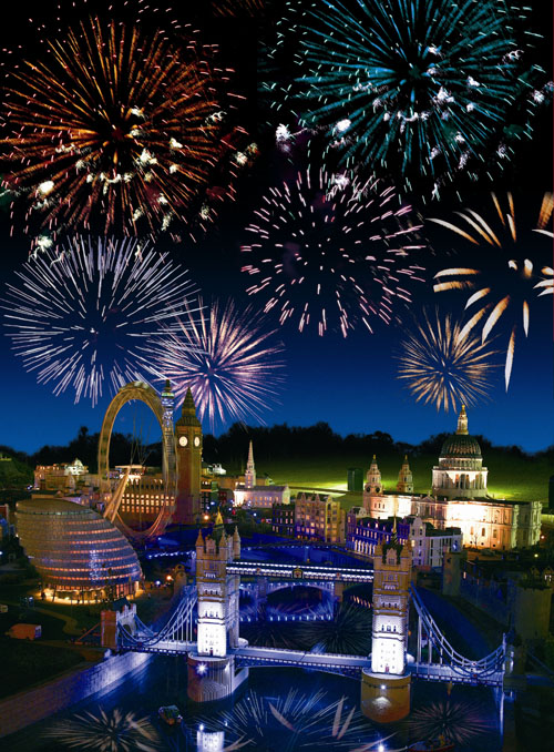 Rachel Beacher LEGOLAND Windsor Resort fireworks