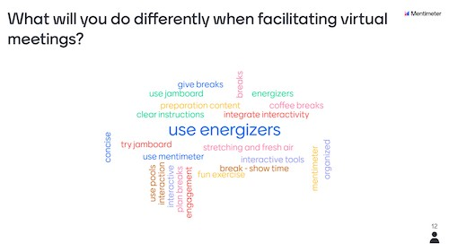 1 what will you do differently when facilitating virtual meetings