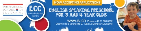 International School of Lausanne English speaking preschool for 3 and 4 year olds
