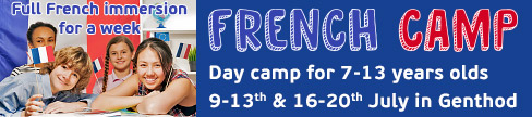 Key English School French Camp Day camp for 7 13 year olds Full French immersion for one week in July